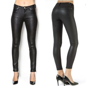7 For All ManKind Coated Skinny Stretch Jeans